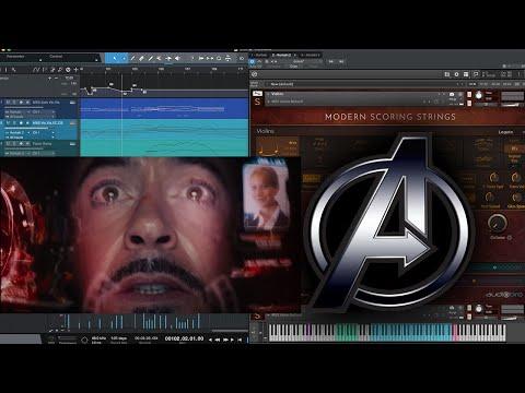 "AVENGERS music: Iron Man takes a ""One Way Trip"" (Modern Scoring Strings Quick Test)"