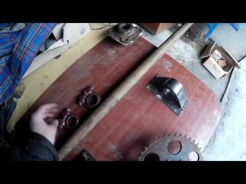 Задняя Ось и Выхлоп, Самодельный мини-трактор ч.5