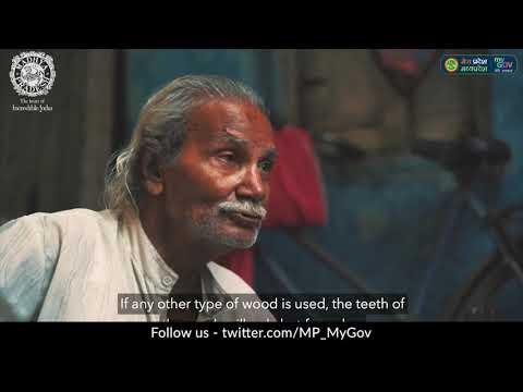 Ujjain, Madhya Pradesh : Amazing Handicraft Making at Home   DIY Wooden Hair Comb