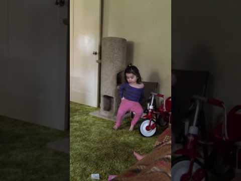 Green Shag carpeting exercise routine