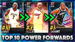TOP 10 BEST POẄER FORWARDS IN NBA 2K21 MyTEAM!!