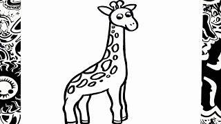 como dibujar una jirafa | how to draw giraffe