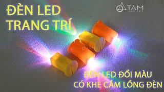 Đèn Led trang trí đổi màu gắn lồng đèn có pin sẵn - Tâm Shoppe