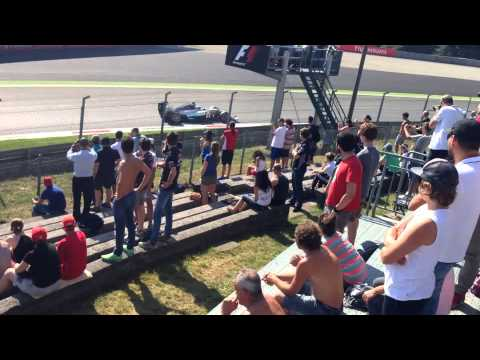The view from inside Parabolica at Monza, 2014 Italian F1 Grand Prix