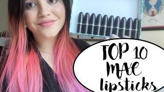 mis top 10 lipsticks de mac alaladaniela