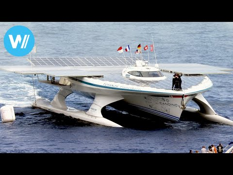 Chasing the Sun - First world tour on a giant boat powered by solar energy