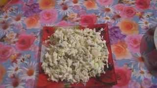 Готовим вкусно.Салат с кальмарами и свежей капустой!