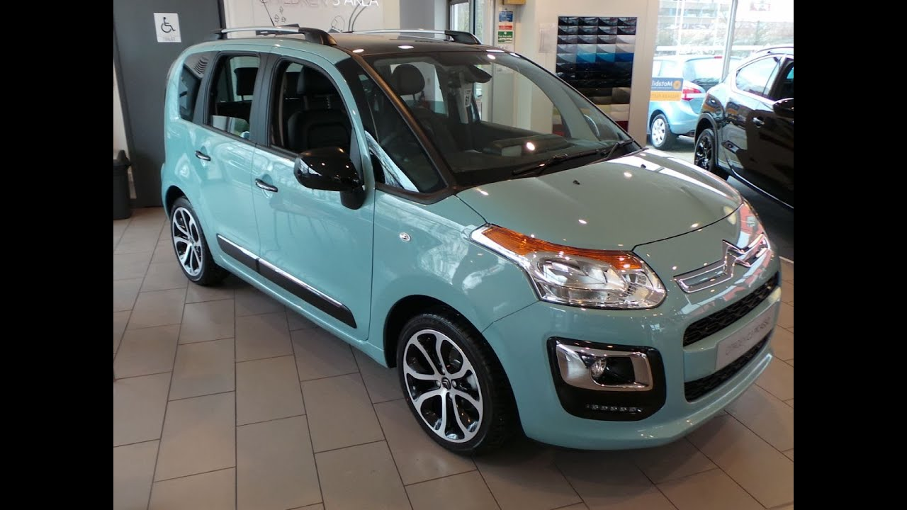 2016 citroen c3 picasso 1 6 bluehdi platinum 5dr in bay blue youtube. Black Bedroom Furniture Sets. Home Design Ideas
