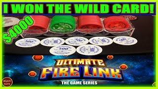 I WON THE WILD CARD! ULTIMATE FIRE LINK RUE ROYALE SLOT MACHINE