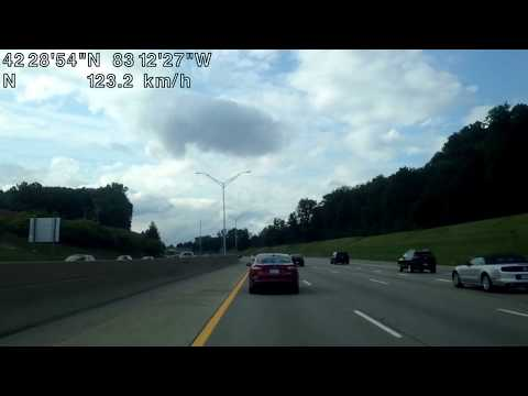 Driving from Clinton Township, Michigan to Beverly Hills, Michigan