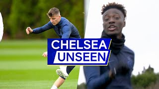 Who Is Chelsea's Best Free Kick Taker? Mason Mount challenges Willian 👀🎯 | Chelsea Unseen