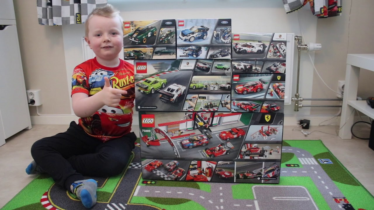 Showing all the new 2018 Lego Speed Champions sets. Ferrari ultimate  garage, Porsche, Ford