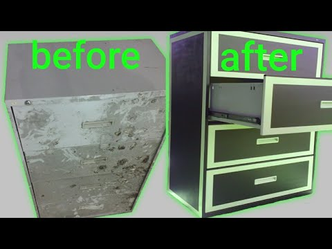 Turn file cabinet into dresser