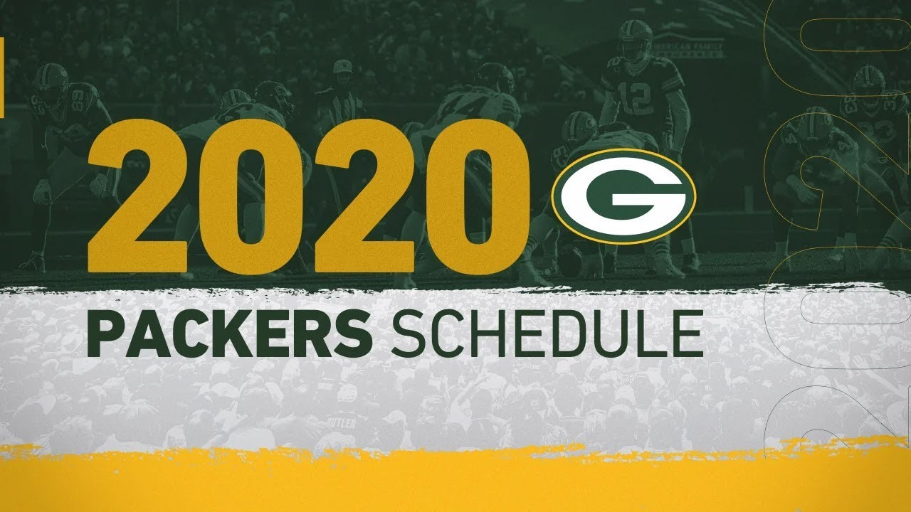 Packers Schedule Released