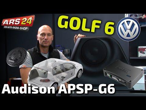 VW Golf 6 CarHifi-Anlage komplett installieren!!! Audison APSP-G6    TUTORIAL   ARS24