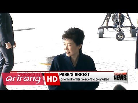 Prosecutors request arrest warrant for Park Geun-hye