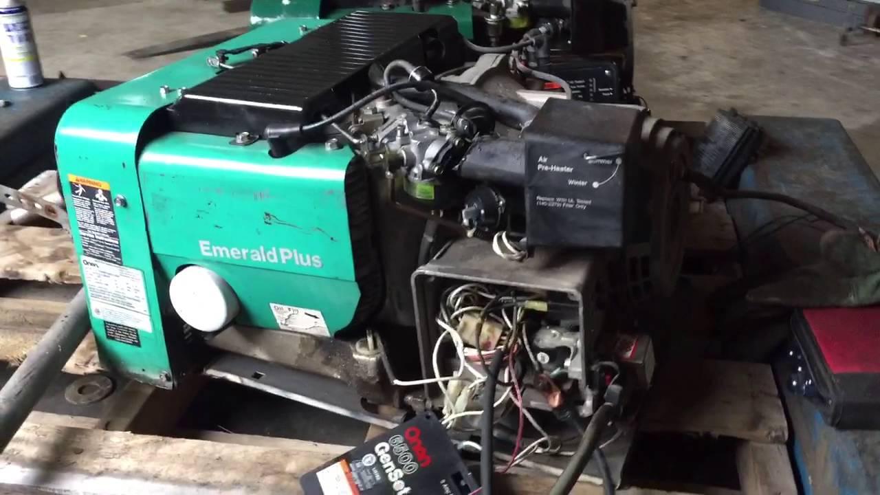 Onan 5000 emerald Plus Generator parts Service Manuals