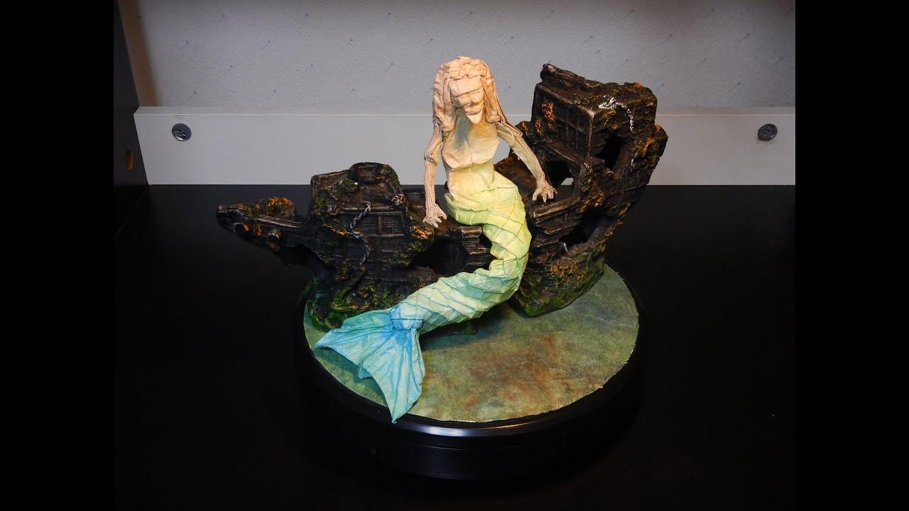 Origami 10 Mermaid By Eric Joisel Youtube