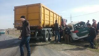حادث مرور مروع بالمسيلة تسبب بوفاة بعض عناصر من الدرك الوطني