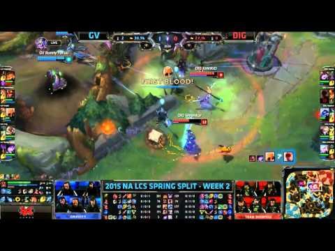 NA LCS Woche 2 Tag 1 - Gravity Gaming vs Team Dignitas