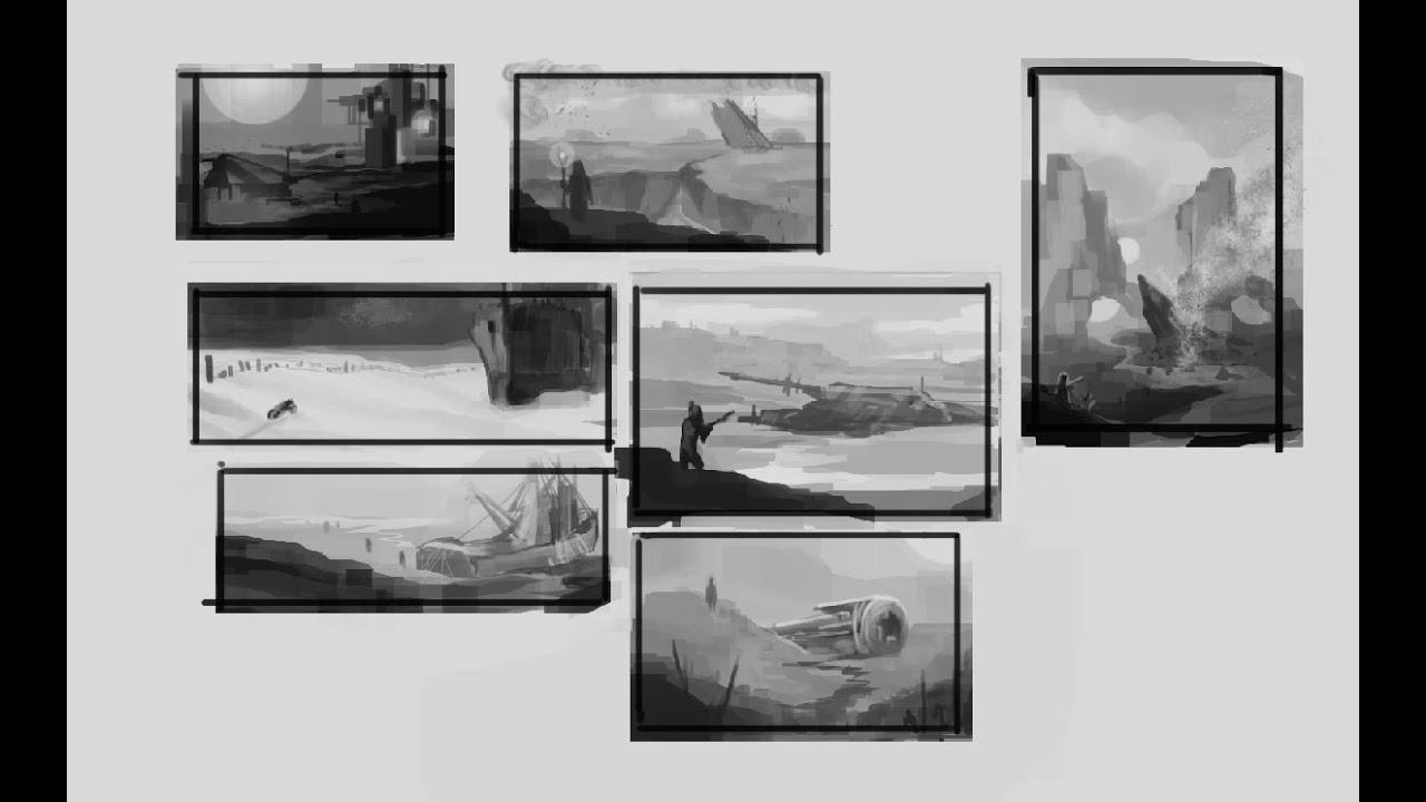 Concept Art Painting Thumbnails Game Environment