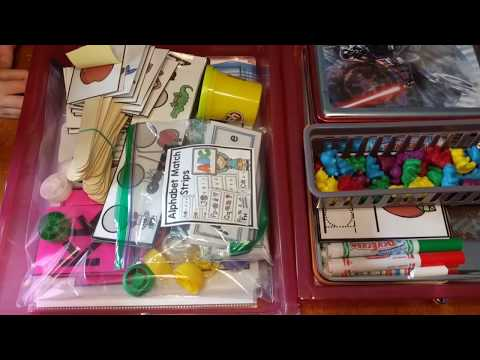 Preschool Work Boxes | What's Inside | Week 1