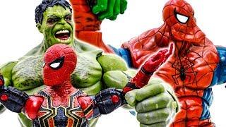 Халк Проти Людини-Павука~! Об'єднати Халка Павука В Битві Зелений Халк~ Іграшки Прикинься Грати #Toymarvel