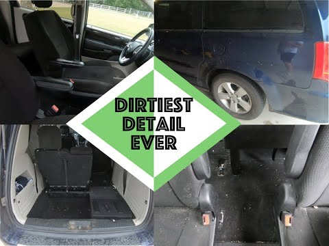 My first time cleaning the dirtiest car interior Ever The worst disaster full interior car detailing