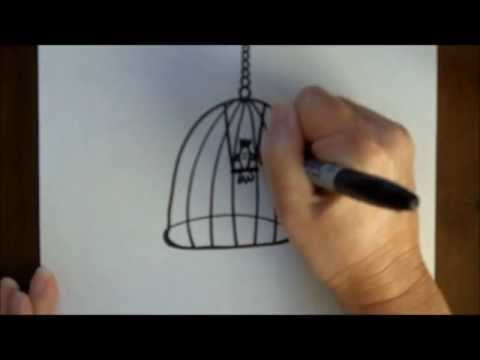 how-to-draw-a-bird-in-a-birdcage-simple-drawing-tutorial