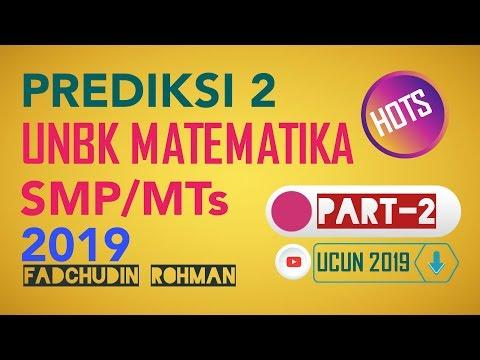 PREDIKSI 2 (No.11-20) - UNBK MATEMATIKA SMP 2019 (UCUN TAHAP 1 PAKET 1)