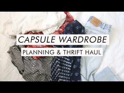 capsule wardrobe planning + thrift haul - 동영상