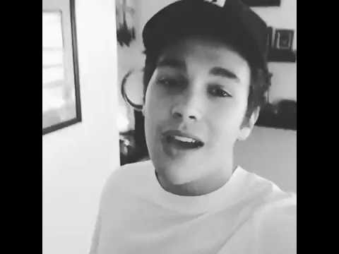 Austin Mahone singing Send it to my Phone acoustic