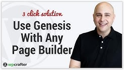 How To Use Any WordPress Page Builder With Genesis Theme From Studiopress