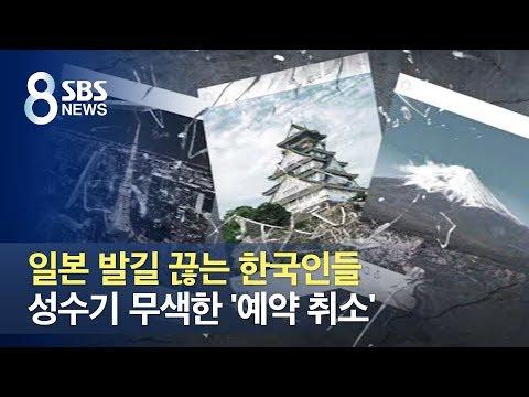 일본 발길 끊는 한국인들…성수기 무색한 '예약 취소' / SBS