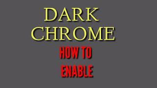 Dark Google Chrome 2019