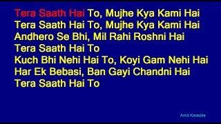 Tera Saath Hai To - Lata Mangeshkar Hindi Full Karaoke with Lyrics