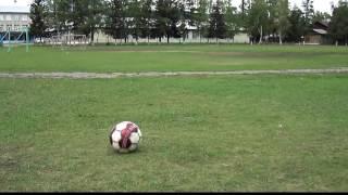 Как правильно бить по мячу.