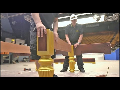 Snooker Table Assembling 2017 World Snooker Championship