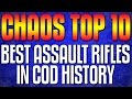 "Top 10 ""BEST ASSAULT RIFLES"" In Cod History (Top 10 - Top Ten) Call of Duty | Chaos"