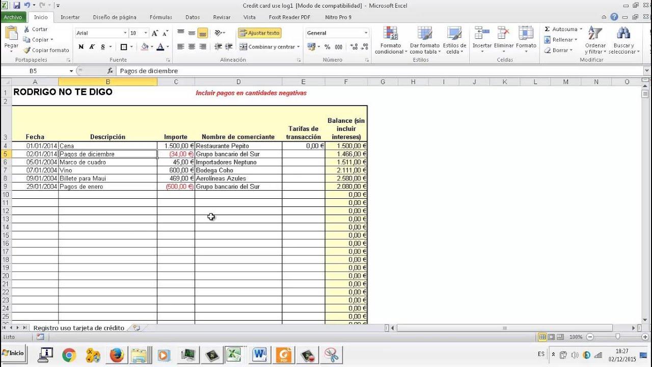 EXAMEN UD05 Ejercicio 3 Plantillas Hoja de calculo Excel OACE FPB2 ...