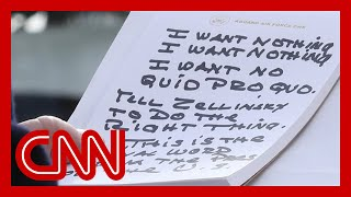 Photographers capture Trump's impeachment notes