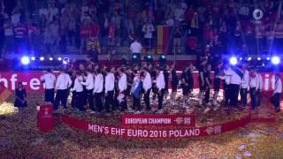 Handball EM 2016 - Die Siegerehrung des Europameisters Deutschland (ARD 31.01.2016)