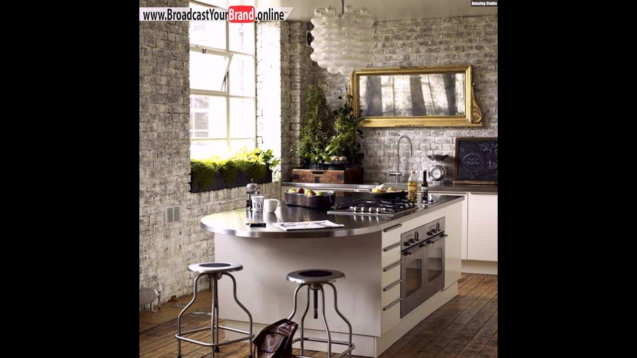 Tiefes küchenfenster clever benutzen pflanzenkübel steinwand küche ...