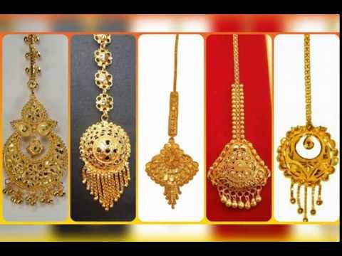 Latest Light Weight Gold Maang Tikka Designs Collection!!!