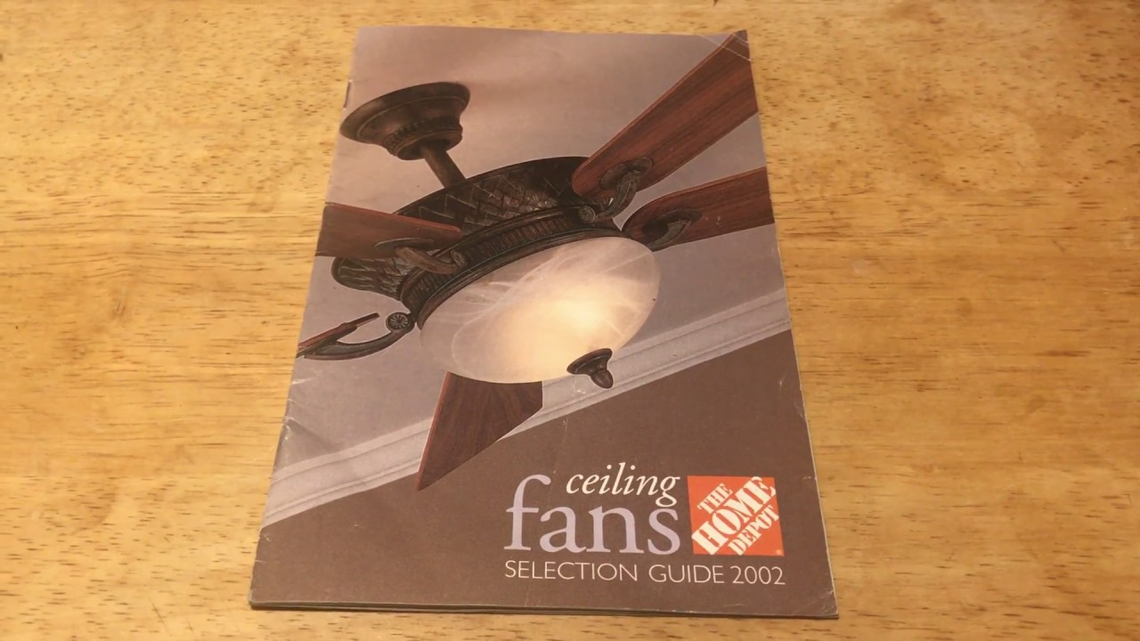 Home Depot Ceiling Fan 2002 Selection Guide Catalog Youtube