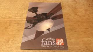 Home Depot Ceiling Fan 2002 Selection Guide/Catalog