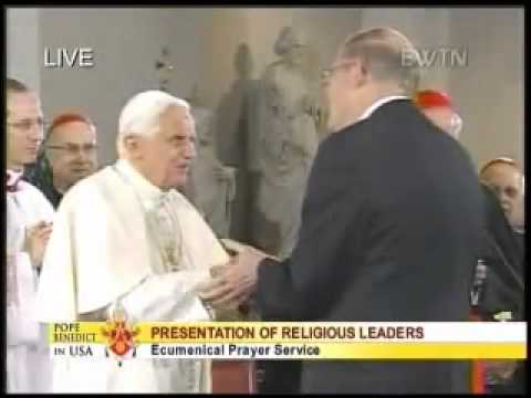 Protestant heads bow down to  Pope Benedict XVI!!!