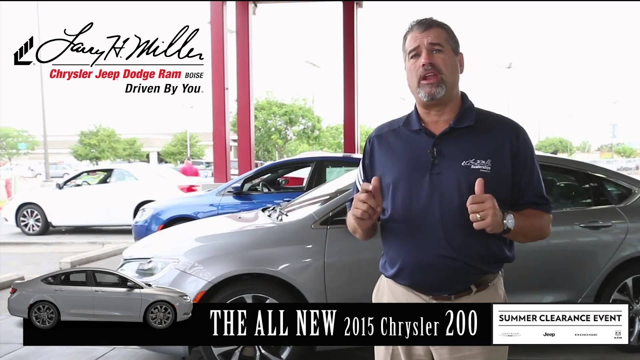 the 2015 chrysler 200 has arrived at larry h miller dodge boise youtube. Black Bedroom Furniture Sets. Home Design Ideas