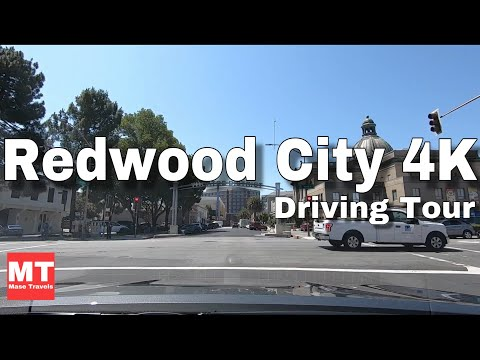 Redwood City Downtown California - Silicon Valley Drive USA 🏆