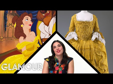 Fashion Expert Fact Checks Belle from Beauty and the Beast's Costumes | Glamour - Видео онлайн
